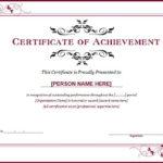 Ms Word Achievement Award Certificate Templates   Word For Blank Award Certificate Templates Word