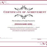 Ms Word Achievement Award Certificate Templates | Word With Regard To New Certificate Of Recognition Template Word