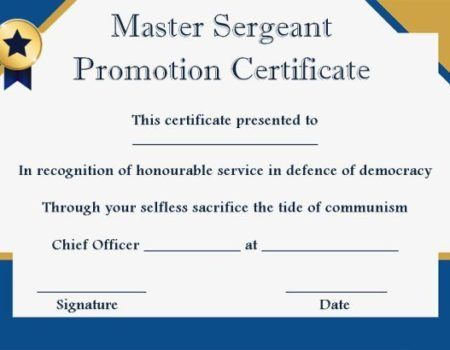 Msgt Promotion Certificate Template | Certificate Templates pertaining to Unique Job Promotion Certificate Template Free