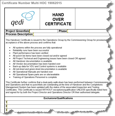Multi Handovers in Best Handover Certificate Template