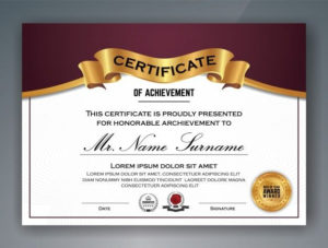 Multipurpose Professional Certificate Template Design intended for Professional Award Certificate Template
