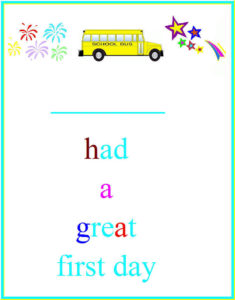 Munchkins And Mayhem: First Day Of School Certificates regarding First Day Of School Certificate Templates Free