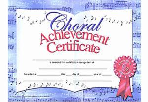 Music Achievement Award Certificate Best Of Choir for Unique Free Choir Certificate Templates 2020 Designs