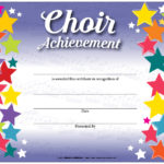 Music In Motion: Colorful Award Certificates Choir Pertaining To Best Choir Certificate Template