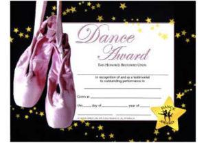 Music In Motion: Dance Award Certificate intended for Dance Award Certificate Template