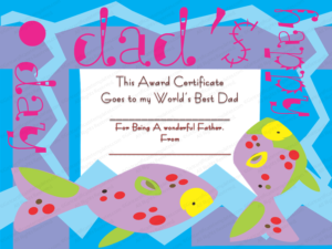 My Best Dad Award Certificate Template with Fresh Best Dad Certificate Template