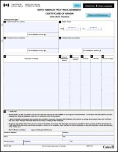 Nafta Certificate Template (8) – Templates Example with regard to Nafta Certificate Template