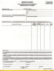 Nafta Certificate Template In 2020   Best Templates in Fresh Nafta Certificate Template