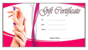 Nail Salon Gift Certificate Template Free 2 | Gift for Fresh Free Printable Manicure Gift Certificate Template