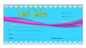 Nail Salon Gift Voucher Template Free 1 | Voucher Template in Nail Gift Certificate Template Free