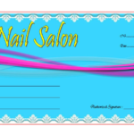 Nail Salon Gift Voucher Template Free 1 | Voucher Template With Regard To Free Printable Manicure Gift Certificate Template