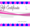 Nail Salon Gift Voucher Template Free 2 | Templates for Fresh Nail Gift Certificate Template Free