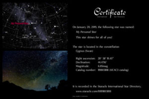 Name A Star For Free intended for Star Naming Certificate Template