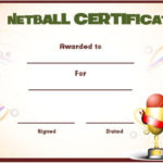 Netball Award Certificate Template | Awards Certificates for Netball Achievement Certificate Template