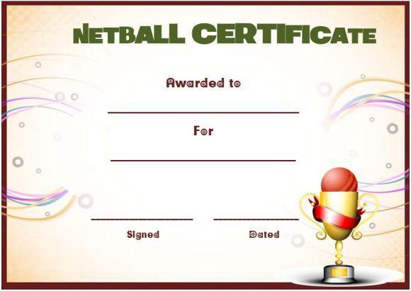 Netball Award Certificate Template | Awards Certificates inside Netball Certificate Templates