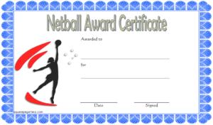 Netball Award Certificate Template Free | Certificate for Netball Participation Certificate Templates
