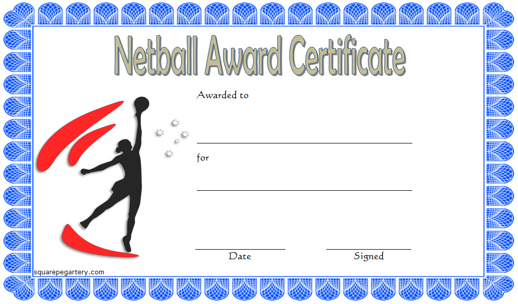 Netball Award Certificate Template Free | Certificate regarding New Netball Achievement Certificate Template