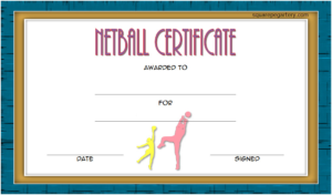 Netball Certificate Template Free 2 In 2020   Certificate with regard to Netball Certificate Templates Free 17 Concepts