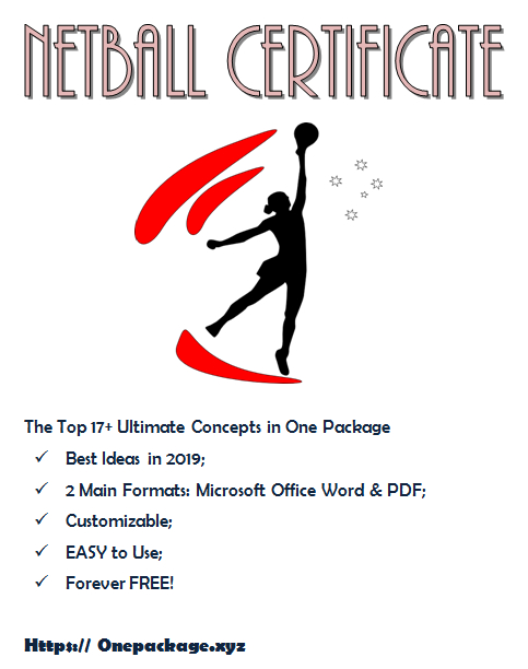 Netball Certificate Templates Free In 2020 | Certificate with regard to Netball Certificate Templates Free 17 Concepts