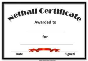 Netball Certificates   Netball, Award Template, Certificate pertaining to New Netball Achievement Certificate Editable Templates
