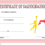 Netball Participation Certificate Template Free 2 Di 2020 With Regard To Netball Participation Certificate Editable Templates