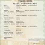 New Full Birth Certificates Issueddha » Move Up – Uk For South African Birth Certificate Template