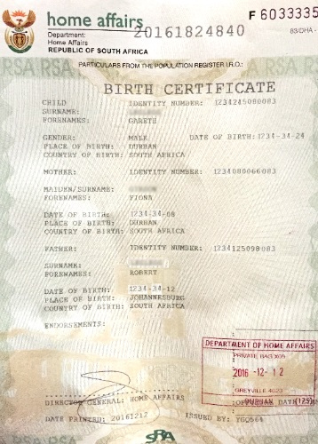 New Full Birth Certificates Issueddha » Move Up - Uk inside South African Birth Certificate Template