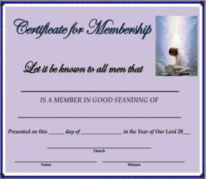 New Member Certificate Template (5) – Templates Example intended for Membership Certificate Template Free 20 New Designs