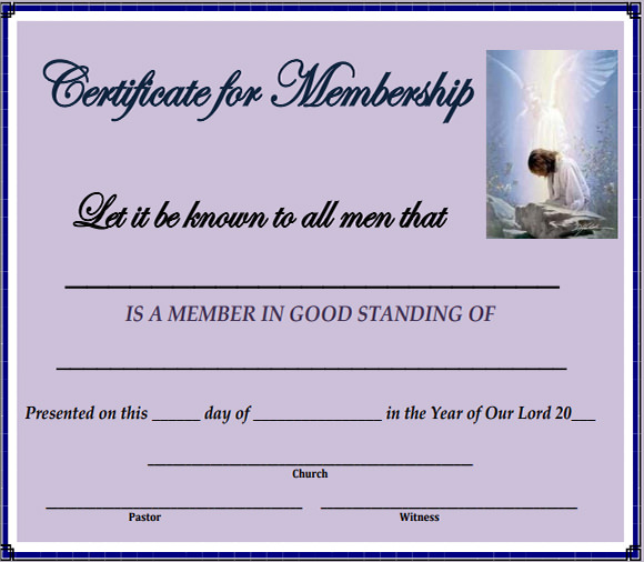 New Member Certificate Template (5) - Templates Example intended for Membership Certificate Template Free 20 New Designs