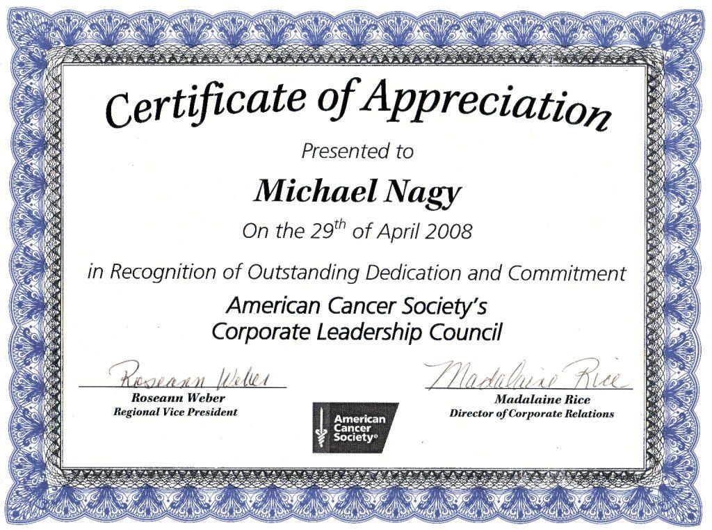 Nice Editable Certificate Of Appreciation Template Example for Certificate Of Appreciation Template Word