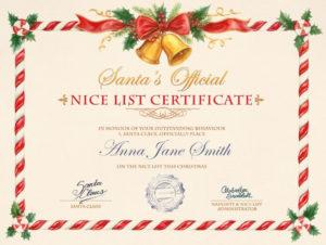 Nice List Certificate – Photofunia: Free Photo Effects And within New Santas Nice List Certificate Template Free