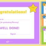 Nursery Graduation Certificate (Teacher Made) With Regard To Kindness Certificate Template 7 New Ideas Free