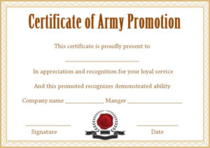 Officer Promotion Certificate Template – Template Sumo inside Best Promotion Certificate Template