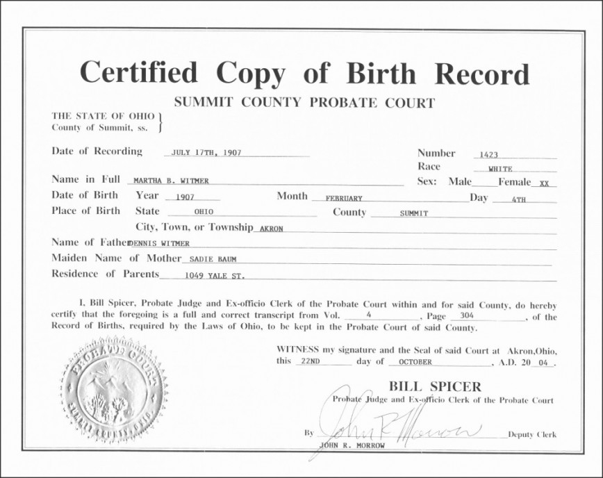 Official Birth Certificate Template ~ Addictionary with regard to Best Official Birth Certificate Template