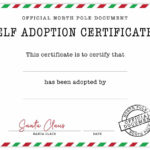 Official Elf Adoption Certificate - Free Elf On The Shelf within Elf Adoption Certificate Free Printable