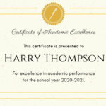 Online Academic Excellence Certificate Template | Fotor Pertaining To New Academic Achievement Certificate Templates