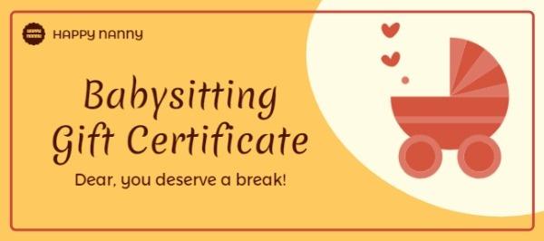 Online Babysitting Gift Certificate Template | Fotor Design for Babysitting Gift Certificate Template
