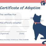 Online Certificate Of Adoption Certificate Template   Fotor inside Quality Cat Adoption Certificate Template