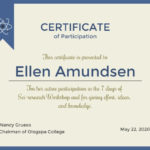 Online Certificate Of Participation Certificate Template In Best Certificate Of Participation In Workshop Template