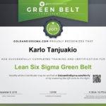 Online Green Belt Training & Certification – Goleansixsigma Regarding Green Belt Certificate Template