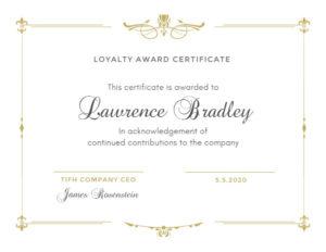 Online Loyalty Award Certificate Template | Fotor Design Maker regarding Winner Certificate Template
