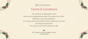 Online Merry Christmas Restaurant Gift Voucher Gift regarding Restaurant Gift Certificate Template