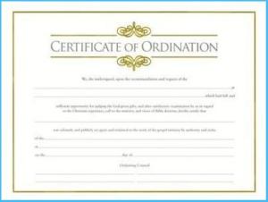 Ordination Certificate Templates (5) – Templates Example regarding Certificate Of Ordination Template