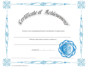Outstanding Performance Achievement Certificate Template within Fresh Outstanding Performance Certificate Template