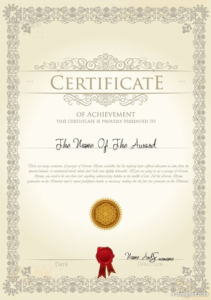 Pages Certificate Templates (4) | Professional Templates within Certificate Template For Pages