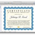 Pages Certificate Templates (7) – Templates Example Within Best Pages Certificate Templates