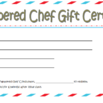 Pampered Chef Gift Certificate Template Free 2 | Pampered Intended For Chef Certificate Template Free Download 2020