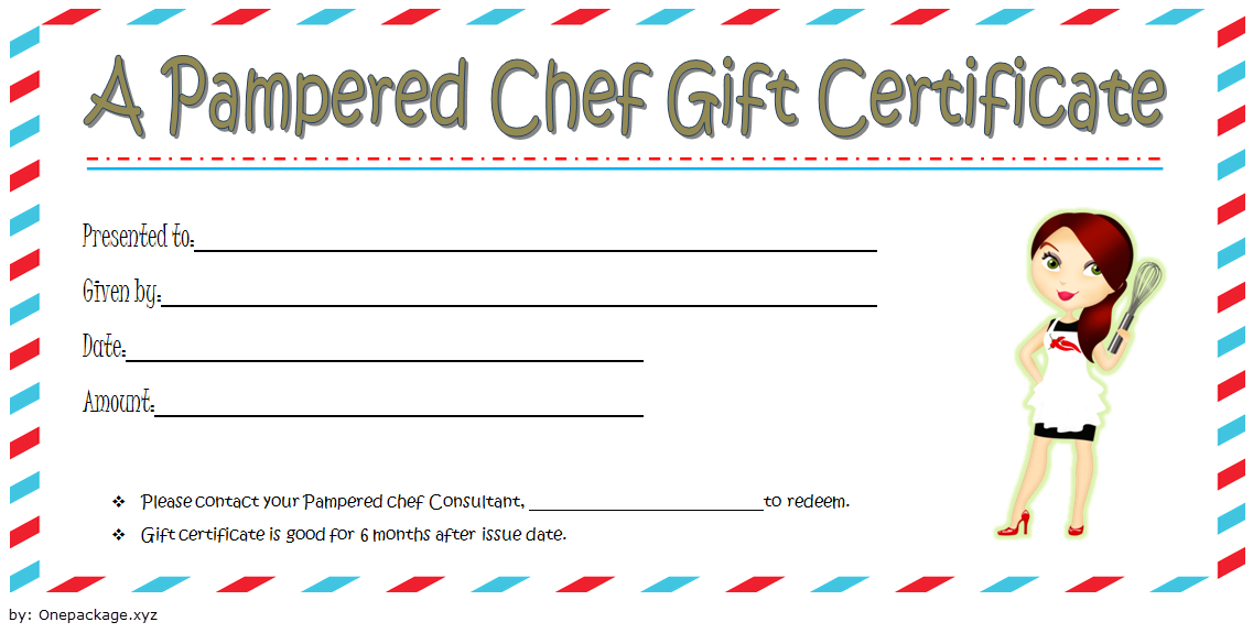 Pampered Chef Gift Certificate Template Free 2   Pampered intended for Chef Certificate Template Free Download 2020