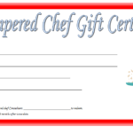 Pampered Chef Gift Certificate Template Free 3 | Gift In Certificate Of Cooking 7 Template Choices Free