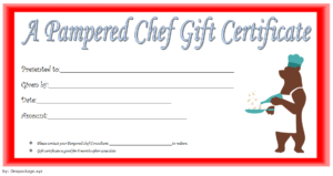Pampered Chef Gift Certificate Template Free 3   Gift in Certificate Of Cooking 7 Template Choices Free